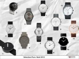 Guide achat sélection montres épurées noel 2012