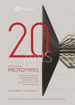 Franceclat 20 ANS prototypes-affiche