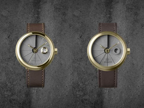 montre 4D concrete automatique laiton