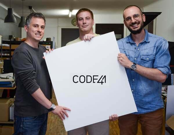 les 3 associes de la marque code41