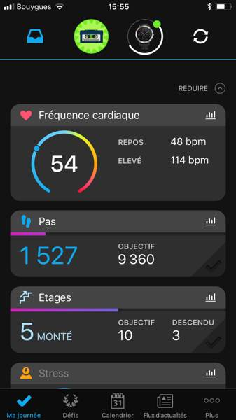 montre Garmin Vivoactive 3 - Garmin connect 1